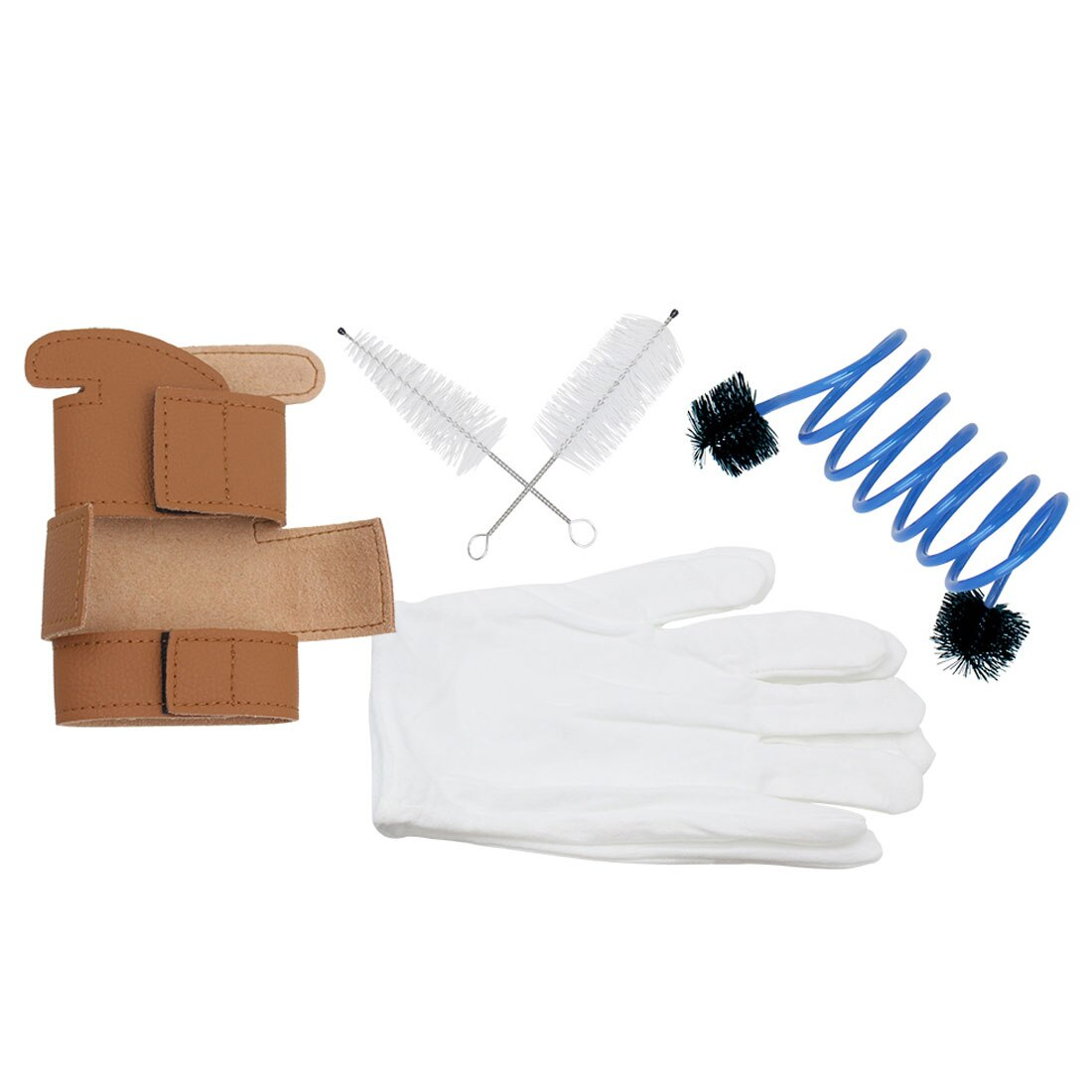Trumpet Gloves + Cleaning Kits + Protective Cover Case Synthetic Leather Woodwind Cleaning Tools Accessories