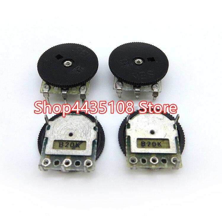 80pcs gear dial turntable adjustable volume single potentiometer 14x1 B10K B50K  for headphone volume switch audio