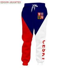 Czech Republic Jogger Pants Men Women Haren Pants Novelty 3d National flag Print Sweatpants Unisex Casual Trousers Custom S-6XL