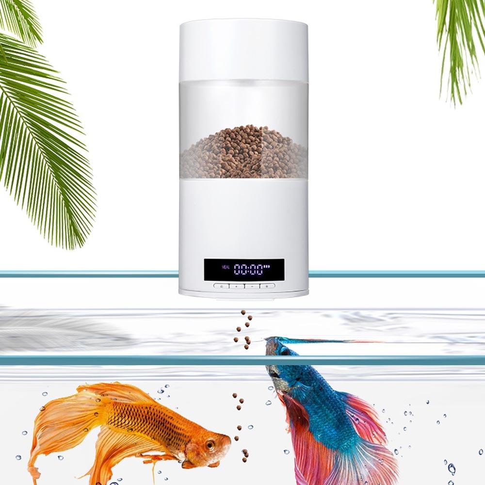 Behogar USB con batería Digital dispensador automático de alimentos para peces, alimentador para acuario