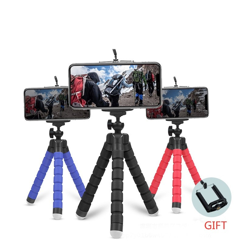 Flexible Tripod Phone Holder For iPhone 11 Pro Max Samsung Xiaomi Sponge Octopus Mobile Phone Stand