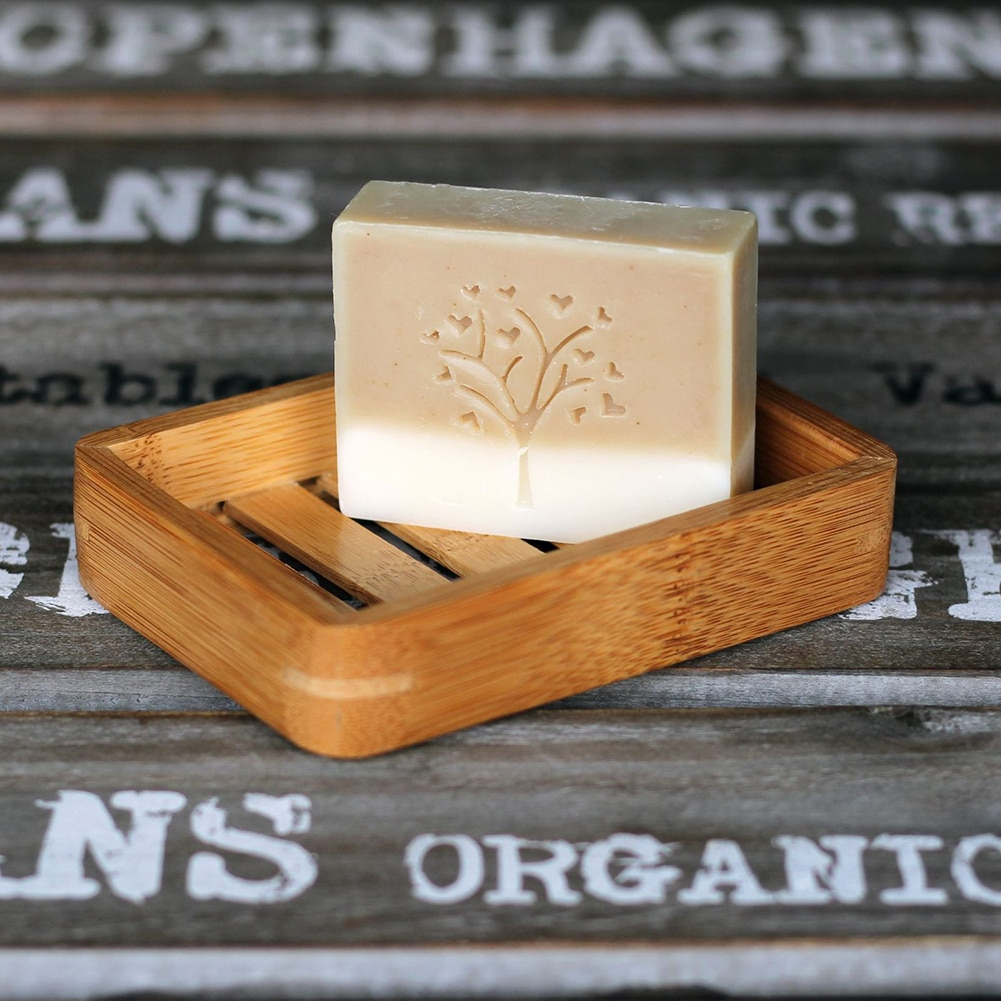 Bandeja jabonera de bambú Natural de madera, soporte de rejilla para guardar jabón, plato portátil para baño, caja de jabón, contenedor, accesorios