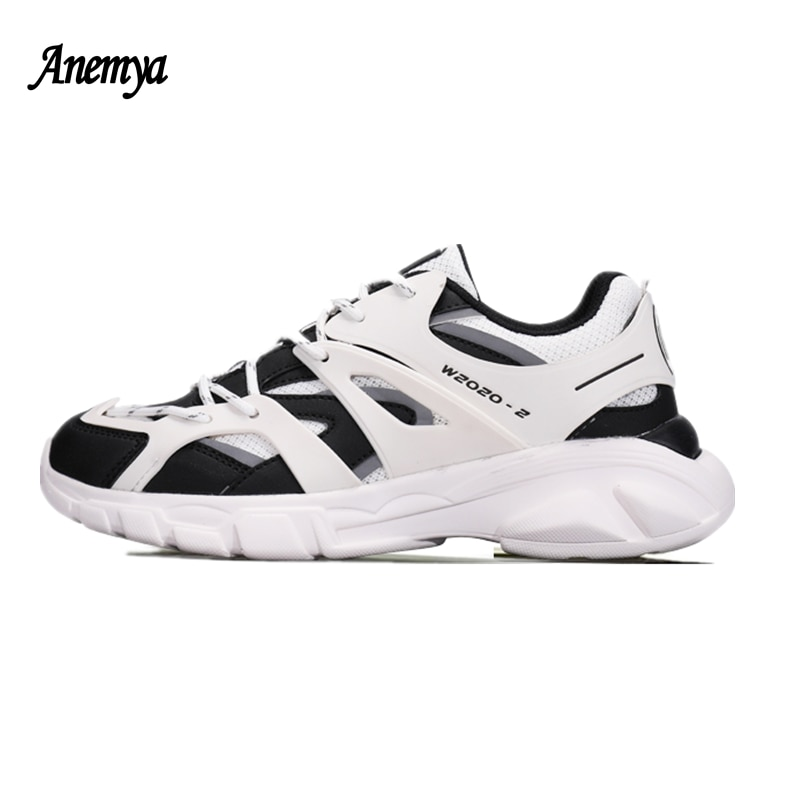 Chunky Platform Sneakers Women's Shoes Spring Autumn Black Casual Sports Shoes Woman Lace Up Vulcanize Shoes Couple White Unisex