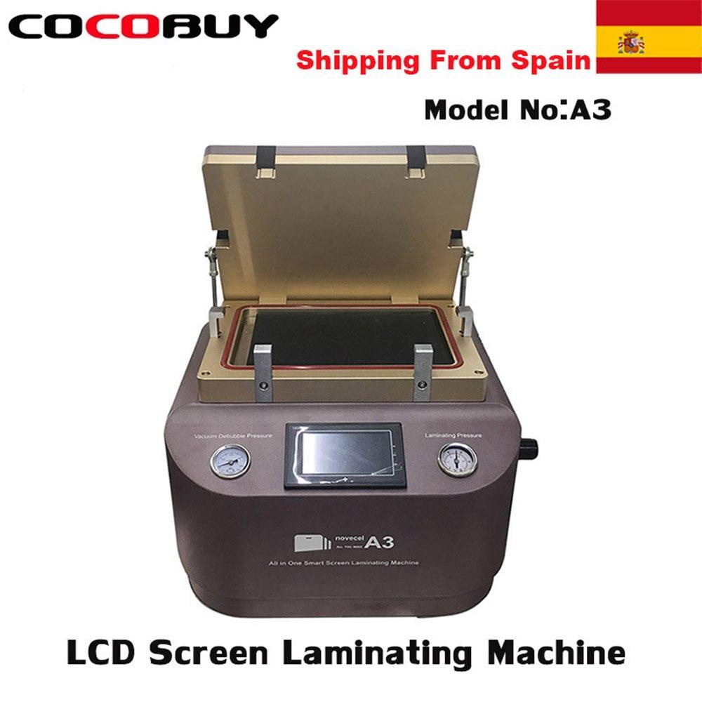 A3 LCD reparación portátil de vacío OCA Máquina de Laminación para iPhone Huawei etc pantalla laminando burbuja que elimina la máquina de unión
