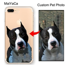 Заказной Pet illustrated Cat Animal gift Dog Portrait Прозрачный чехол для iPhone 12 mini 11 Pro MAX X XR XS MAX SE 2020 6S 7 8 Plus