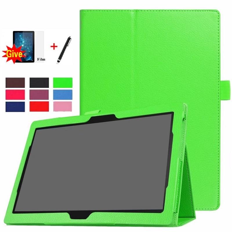 pu leather case for prestigio multipad grace 3201 pmt3201 4g d 10 1 inch tablet folio stand case flim touch pen Case for Lenovo Tab M10 TB-X505F TB-X605L TB-X605F 10.1 PU Leather Cover Folio Tablet Multi-Angle Stand Cover Case+Film+ Pen