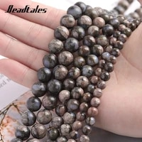 spacer beads blue stones natural stone agate beads round blue loose beads for jewelry diy making bracelet 6810mm beadtales