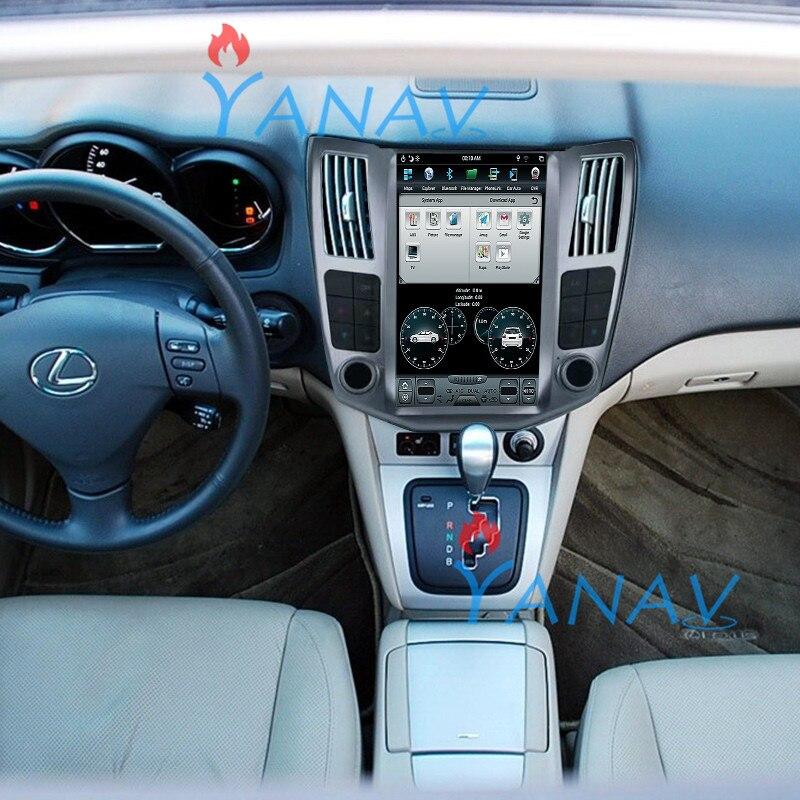 Sistema Android de navegación de GPS para coche de 11,8 pulgadas para-Lexus rx 400h 2006 reproductor de radio estéreo para coche unidad principal de coche reproductor de Dvd 4 + 64GB