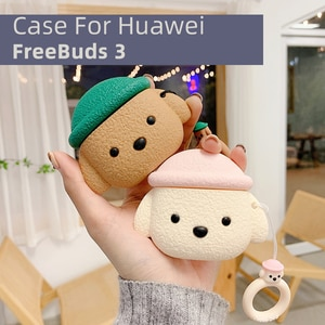 Huawei Freebuds3 Case Cartoon Animal Protective Case Wireless Bluetooth Headset Drop-Resistant Protective Case