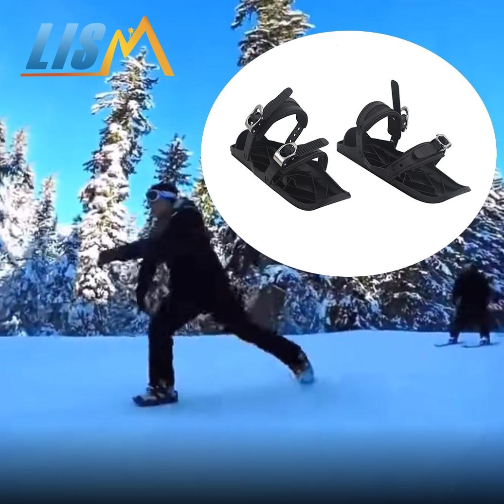 LISM 2020 Новинка Высокое качество Мини лыжные ботинки коньки Сноубординг Лыжная доска Регулируемая вязка портативная Лыжная обувь