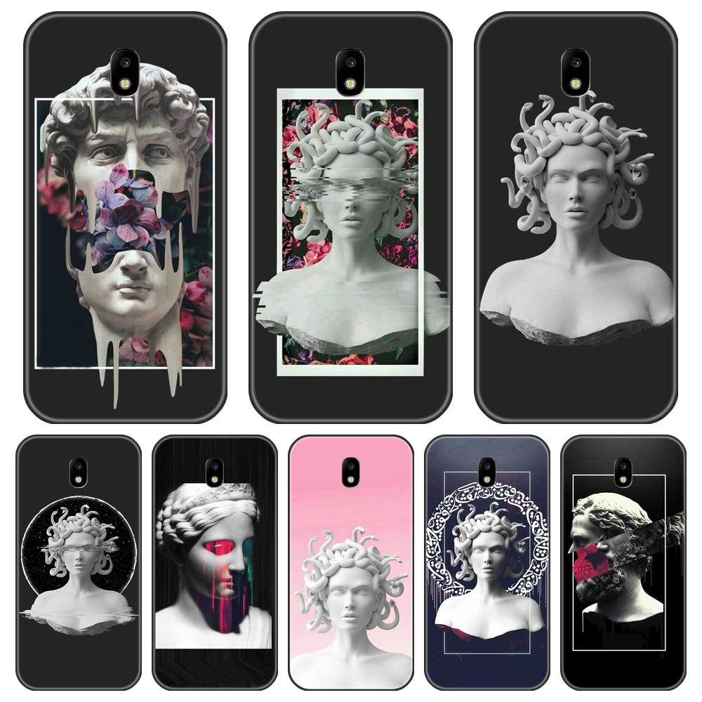 Case For Samsung Galaxy J2 J5 J7 Prime J4 J6 J8 Plus 2018 Silicone Medusa Art Back Cover For Samsung J3 J5 J7 2015 2016 2017