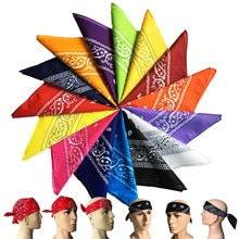 Bandana kerchief Unisex Hip Hop Hiking headscarf Hair Band Neck Scarf  Wrist Wraps Head Square Scarv