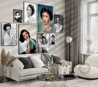 elizabeth taylor movie photo print black and white movie poster hollywood stars wall art home decor painting