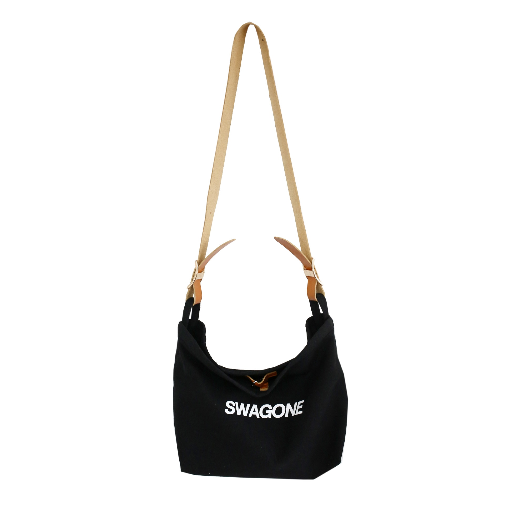 Canvas Shoulder Bags Classic Black Beige Messenger Strong Fabric Bags Leisure Style Crossbody Bags 2021 Minimalist Spring Autumn