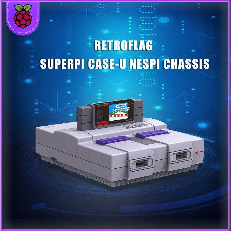 Retroflag SUPERPi CASE-U con ventilador coelling + disipador de calor para Raspberry Pi 3B Plus (+ + + 3B)/3B
