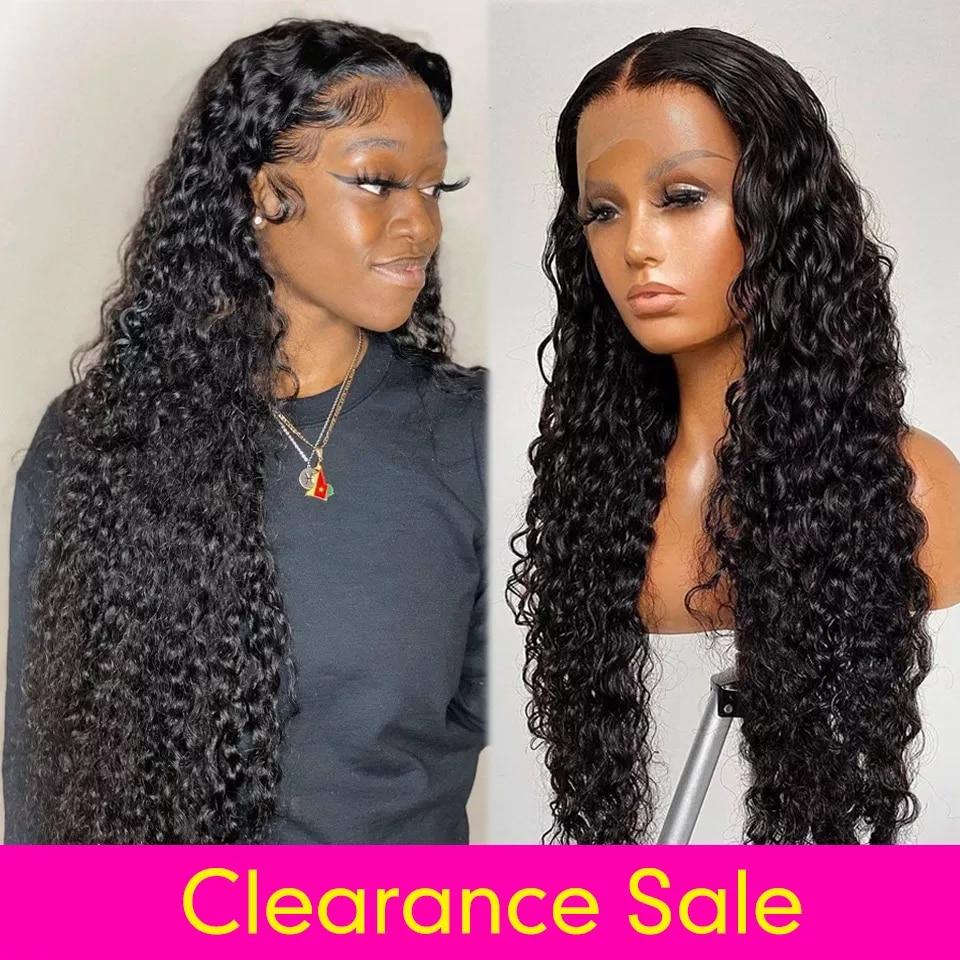 13x6 HD Lace Front Wig 4x4 5x5 6x6 Transparent Water Wave Wigs Brazilian Human Hair Wigs Promqueen Wigs For Woman Human Hair