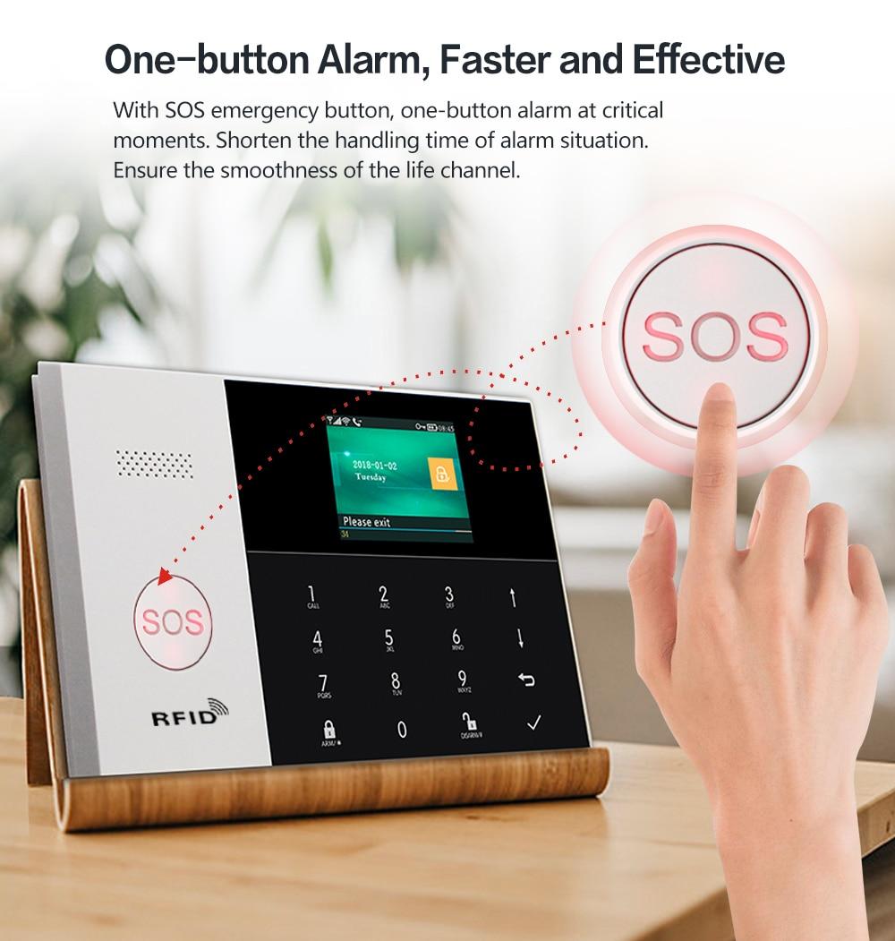 PGST PG-105 3G WIFI GSM GPRS Alarm System Alarm Host with 433MHz Home Alarm Kits Smart Security Burglar APP Remote Control enlarge