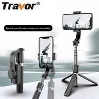 travor handheld gimbal stabilizer single axis hand gimbal smartphone stabilizer tripod selfie stick stabilizer for telphone live