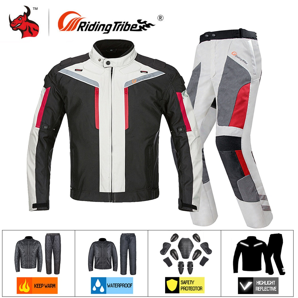 Riding Tribe Motorcycle Jacket Waterproof Windproof jaqueta motociclista Reflection Motorbike Riding Clothing Protective Gear ##