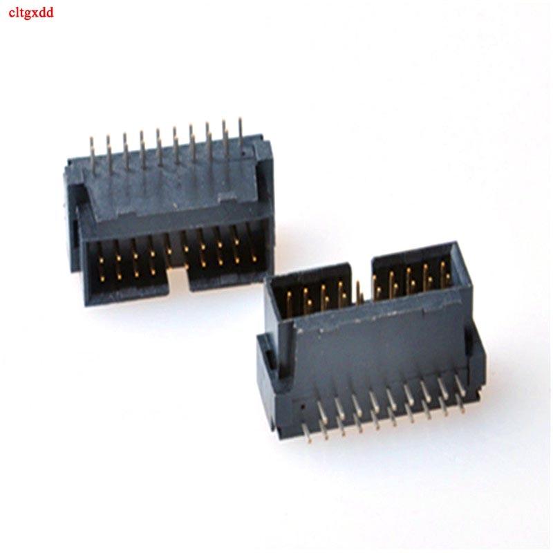 Cltgxdd 1 Uds USB 3,0 19 P 19 pin USB3.0 19 P conector macho 90 grados placa base chasis asiento frontal conector de expansión negro