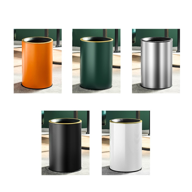 9L Stainless Steel Trash Can Office Bathroom Dustbin Waste Bin For Kitchen Without Lid Garbage Can High Quality Car Recycle Bin enlarge