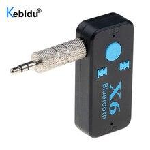 Kebidu Bluetooth Aux Audio Receiver Adapter Bluetooth 4.1 Music Receiver 3.5mm Aux Handsfree Car Kit Support TF Card A2DP Mp3