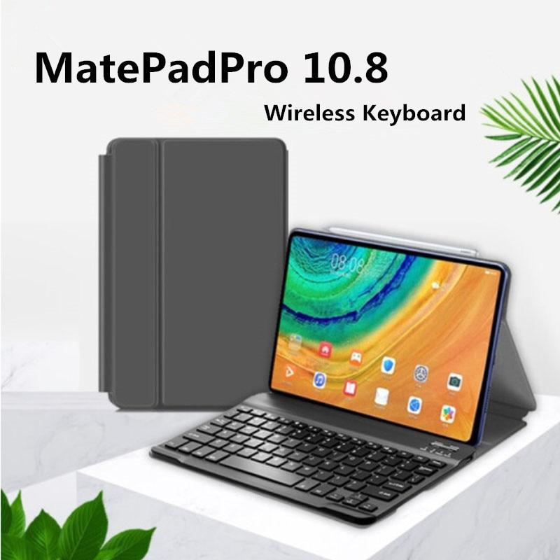 حافظة جلدية لجهاز Huawei MatePad Pro اللوحي ، 10.8 بوصة ، لوحة مفاتيح لاسلكية