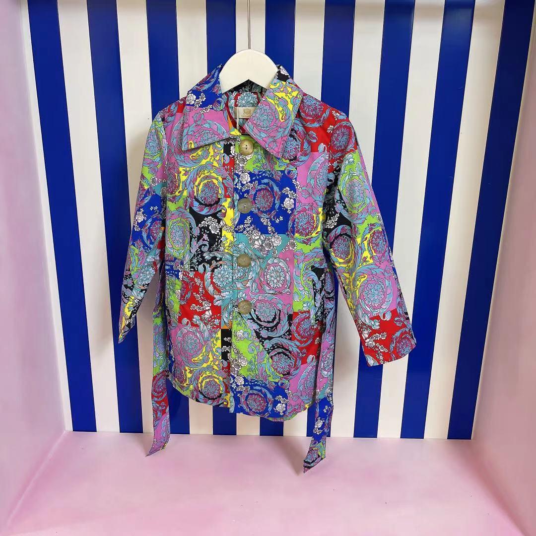 راند تصميم فستان سترة 2021 ربيع جديد الفتيات البريطانية واسعة الأكمام جاكت رياضي سترة واقية غير رسمية ثوب أطفال