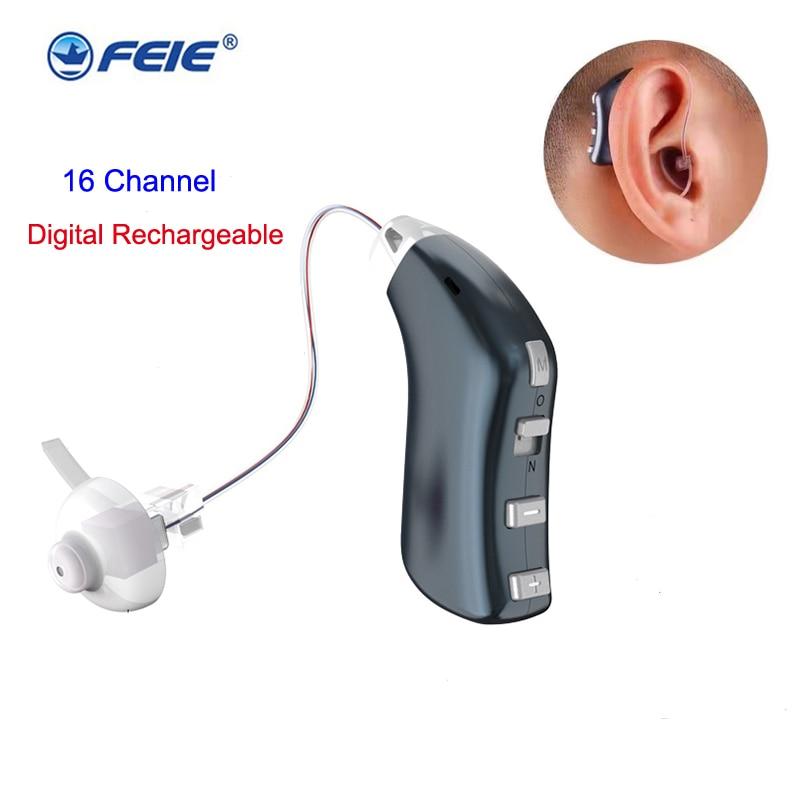 Фото - 16-канальный цифровой слуховой аппарат G-28D, перезаряжаемый усилитель звука, профессиональный слуховой аппарат BTE, звуковой аппарат для глухо... слуховой аппарат zinbest vhp 220 l1154