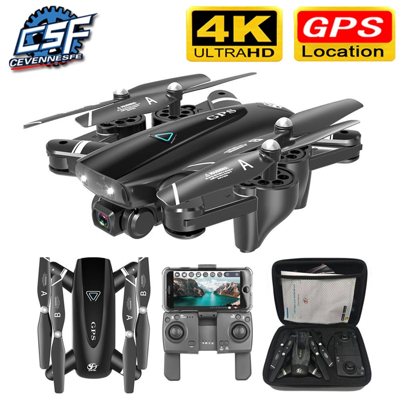 S167 GPS Drone With Camera 5G RC Quadcopter Drones HD 4K WIFI FPV Foldable Off-Point Flying Photos V