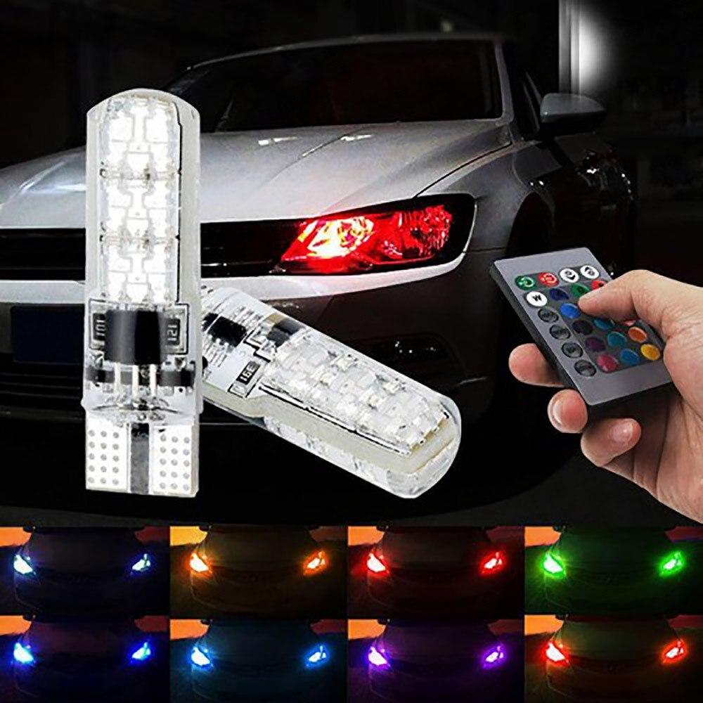 Luz de advertencia de faros LED RGB para coche Skoda Octavia 2 A7 Tour RS Superb Kamiq Fabia Rapid Kodiaq Karoq lámpara de ambiente para coche