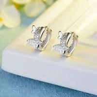 meyrroyu 925 sterling silver ladies elegant fashion zircon butterfly earrings 2021 new jewelry gift accessories wholesale