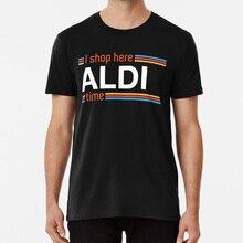 Je magasine ici Aldi Time t-shirt Aldi magasin épicerie ici Aldi Time Food jeu de mots Aldi magasin épicerie