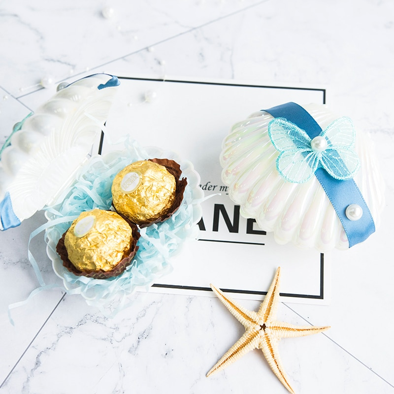 Shellswedding caja de dulces de regalo de embalaje bolsa de plástico bolsa...