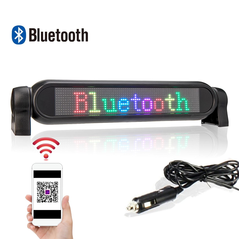 12 فولت LED إشارة سيارة بلوتوث متوافق للبرمجة LED شاشة عرض 12*72 مصفوفة معلومات لوحة شاشة التمرير النص