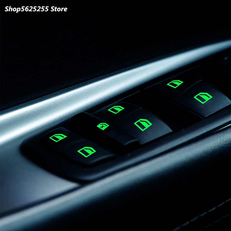 Car Sticker For Toyota RAV4 Highlander Fortuner 2020 2021 Car Door Window Luminous Button Stickers Windows Switch 2014 2018 2019