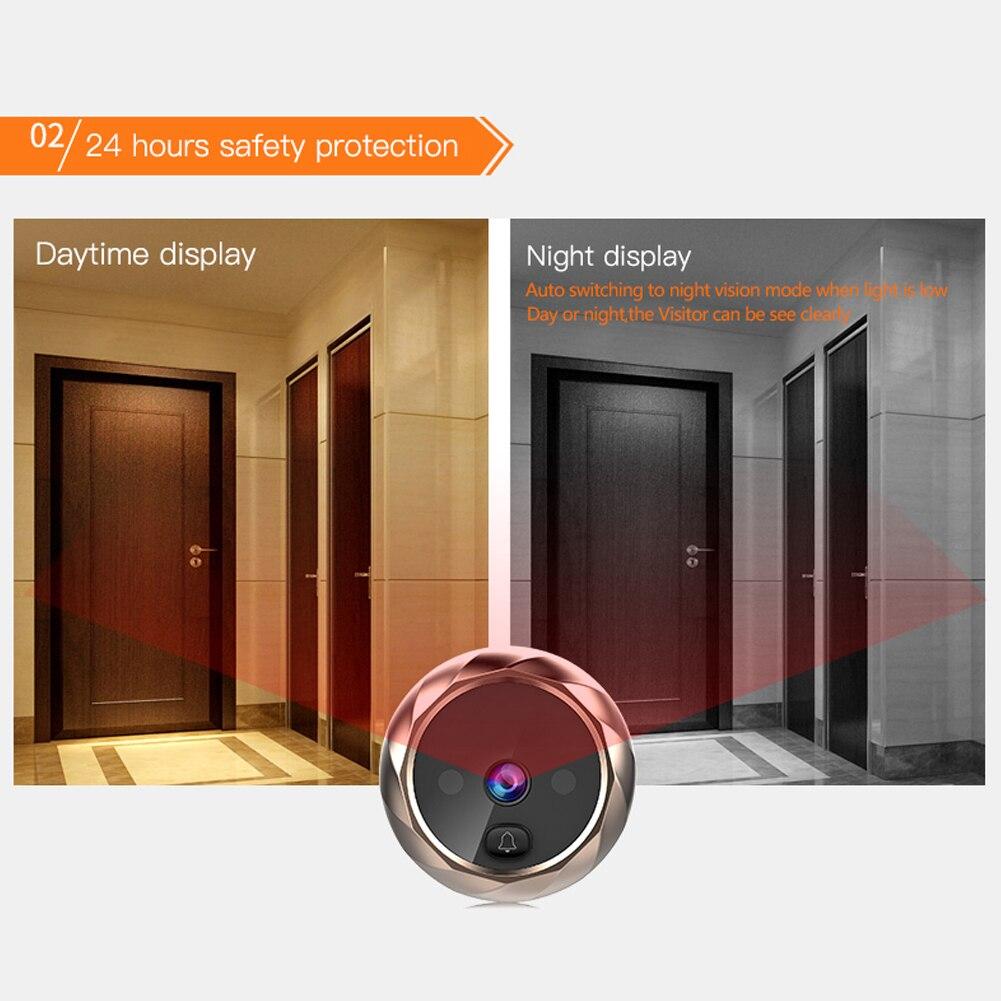 New 2.8 inch LCD Color Screen Digital Doorbell Smart Electronic Peephole Night Vision Door Video Camera Viewer Outdoor Door Bell enlarge
