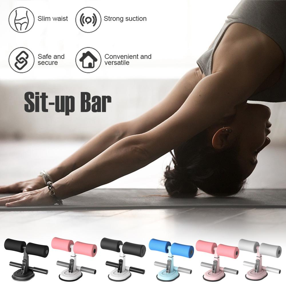 Sit-up Bar Padded Adjustable Height Sit-up Floor Bar Larger Suction Sit-up Abs Trainer Home Fitness Equipment new sit up exerciser equipment waist training push up bar arm muscle hip squat trainer home sport fitness machine xywj 8404