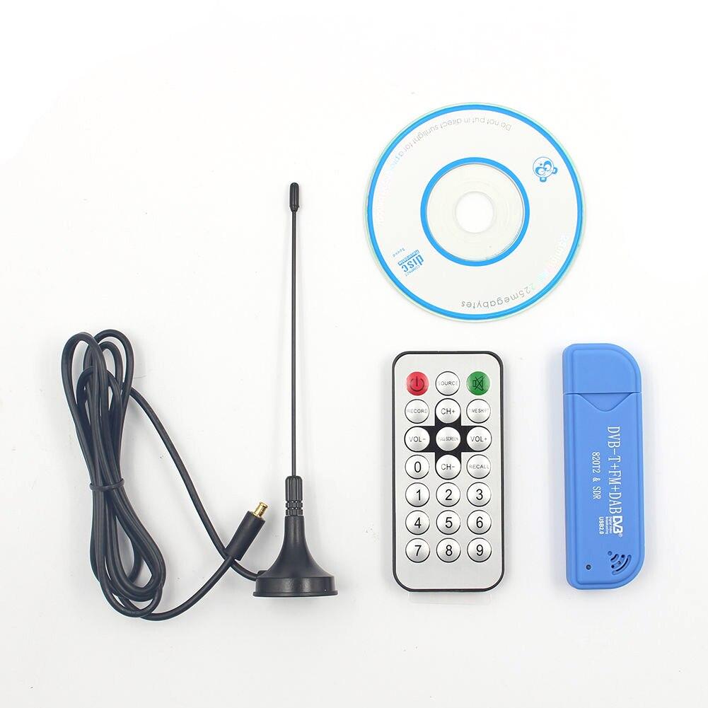 Prático controle remoto sdr + dab + fm mini usb2.0 peças de gravação em tempo real digital rtl2832u + r820t2 tv dvb-t vara sintonizador receptor