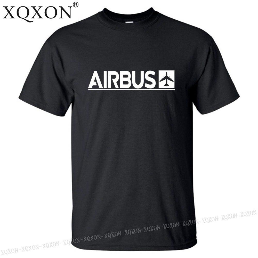 Мужская футболка с принтом Airbus, хлопковая Футболка с принтом на лето, XQXON-2019, K712