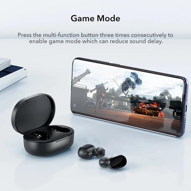 Original Xiaomi Redmi Airdots 2s Earphone Mi True Wireless Earbuds Basic 2s Bluetooth 5.0 Air2 SE TWS Mic Gaming Mode In Stock 2