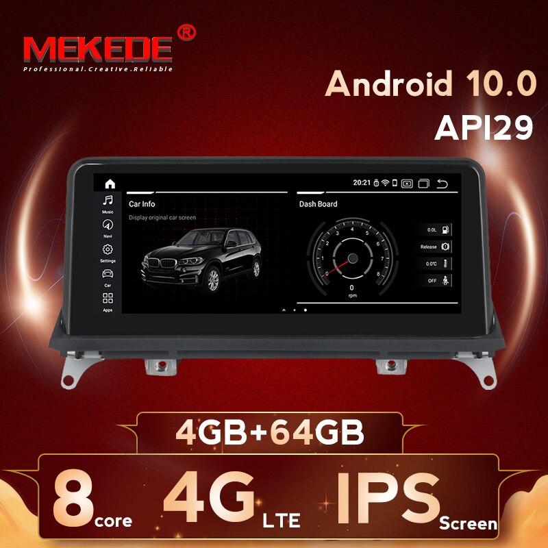 """Mekede 10.25 """"carro dvd gps para bmw x5 e70/x6 e71 2007-2013 cic ccc rádio player de vídeo android 10.0 4 + 64g 4g lte"""