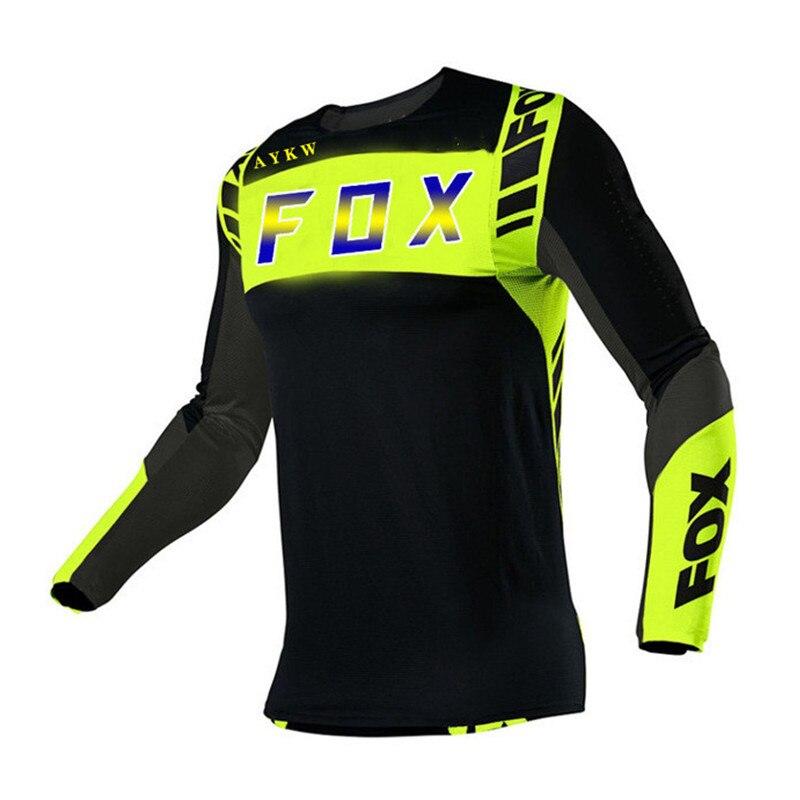 Jersey de Ciclismo Fox para hombre, Maillot para bicicleta de montaña, Motocross,...