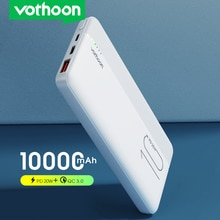 VOTHOON 20W Power Bank 10000mAh Portable Charging PowerBank Type C USB Fast Charger External Battery