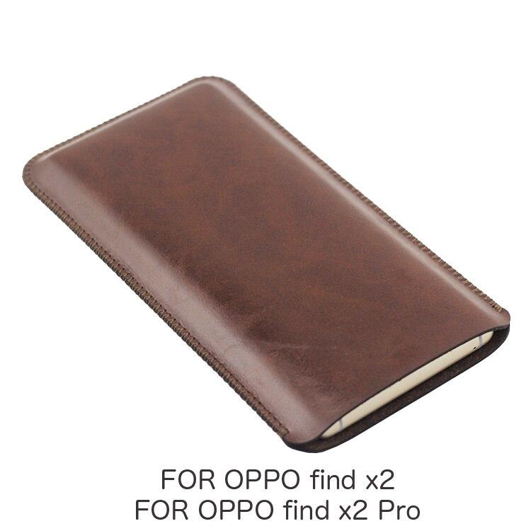 Findx2 funda Universal de cuero para teléfono, funda retro de estilo simple para OPPO find x2 Pro find x2