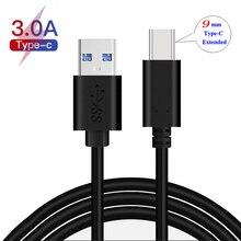 Câble de chargeur rapide 3A à pointe étendue USB type-c de 9mm de longueur pour Doogee Y9 Plus, S68 Pro, S90 Pro, S90, S95 Pro, BL9000, S70 Lite, S80 Lite
