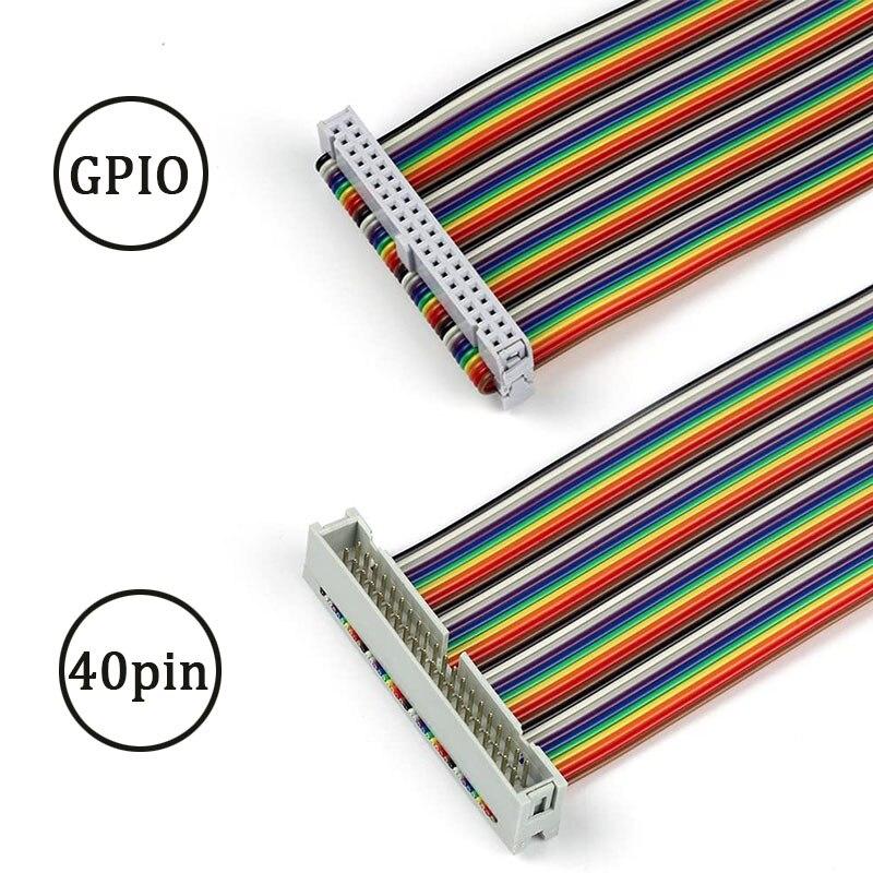 Cable de pantalla Raspberry pi, Cable GPIO de cinta macho a hembra de 40 pines para Raspberry Pi 4B 3 2, modelo B + w TFT, pantalla táctil LCD