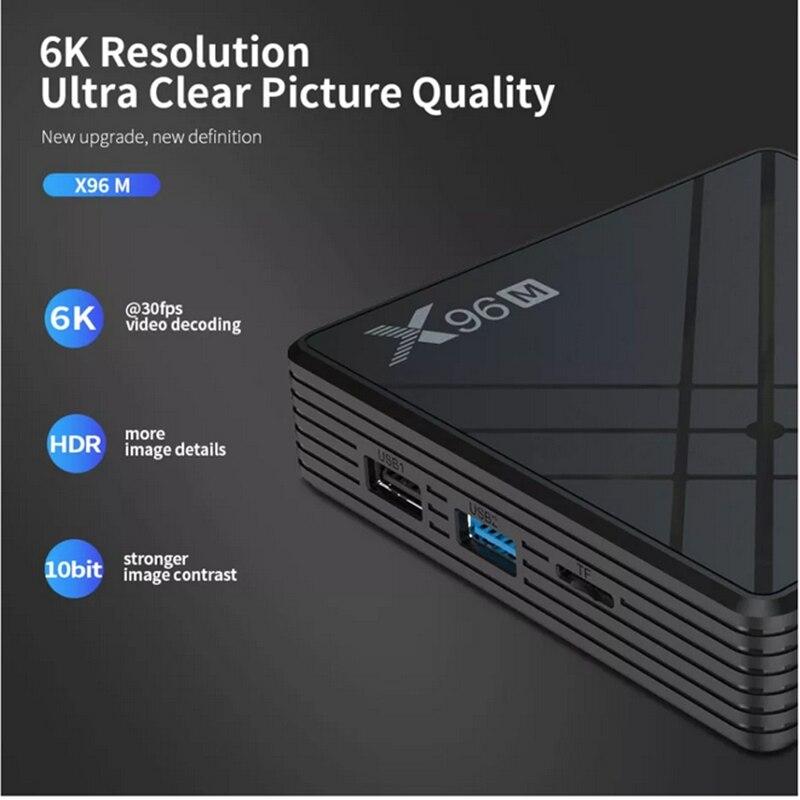 X96 X96M TV Box Allwinner 4+64GB 4K 6K HDR H603 5G WIFI bluetooth 4.0 EU US UK AU Android 9.0 2.4G 5G 4GB RAM 64GB ROM