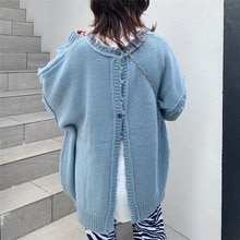 Thin Cardigan Women Knitted Sweater Double Sides Wear Oversize Japan Korean Style Casual Autumn Simp