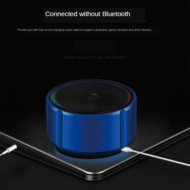 New metal Bluetooth speaker Outdoor card computer bass mini Bluetooth audio room enlarge